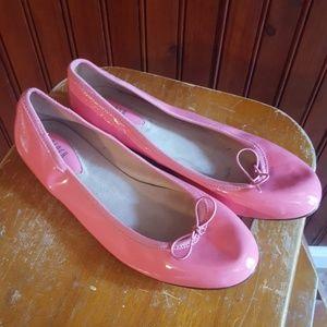 BLOCH ballet flats,  pink pantent leather